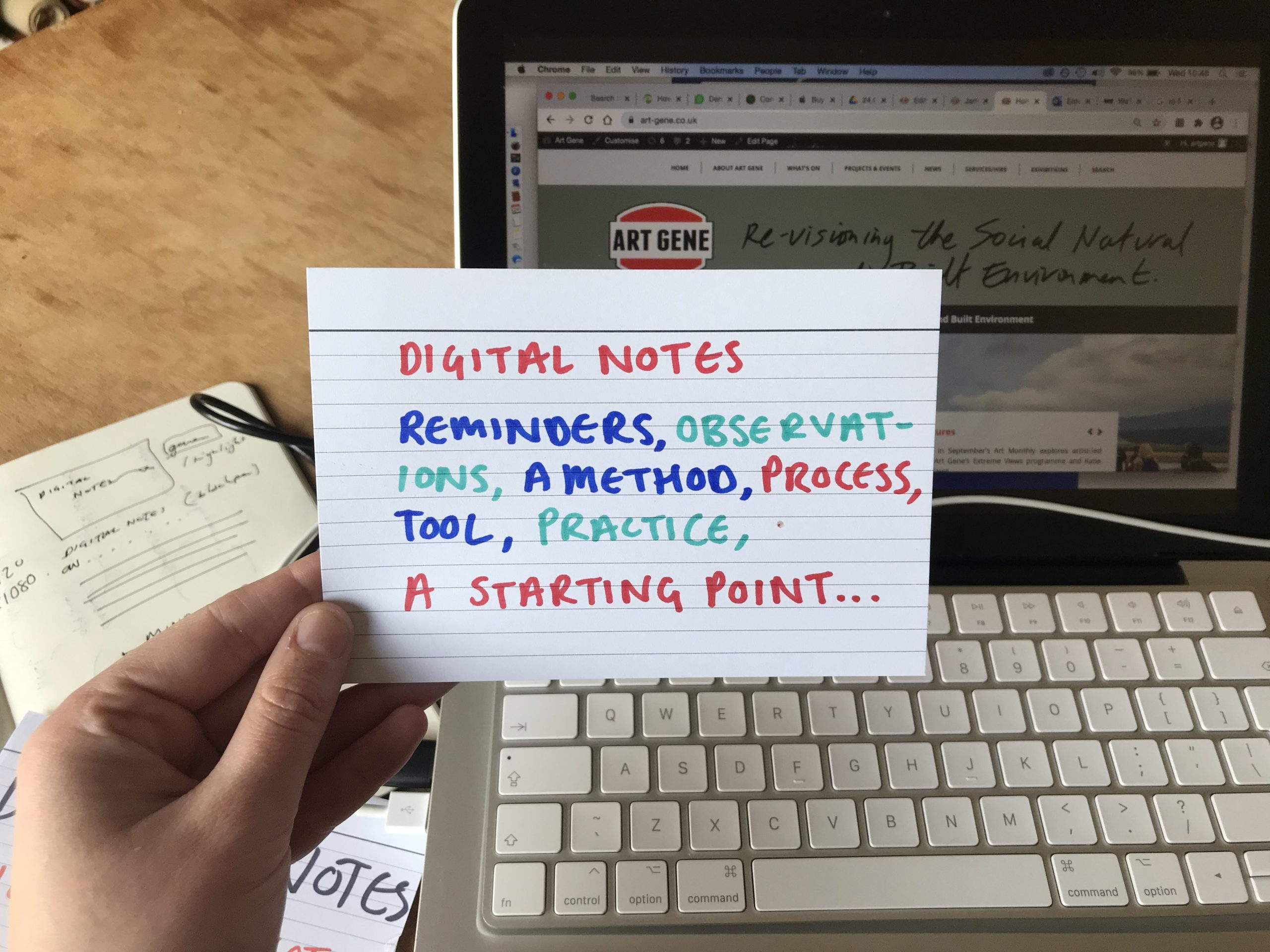 Digital Notes: reminders, observations, a method, process, tool, practice, a starting point ...