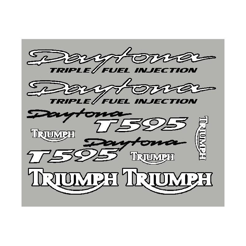 Aufkleber Triumph Daytona T595 mit schwarzen konturlinien