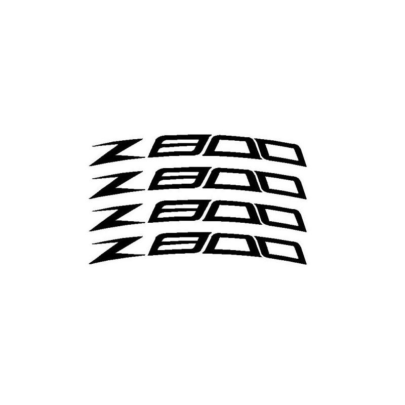 4 Pegatina adhesivos Z800 curvadas para llantas