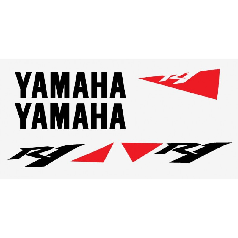 Kit sticker Replica du modèle Yamaha R1 de 2010 blanc