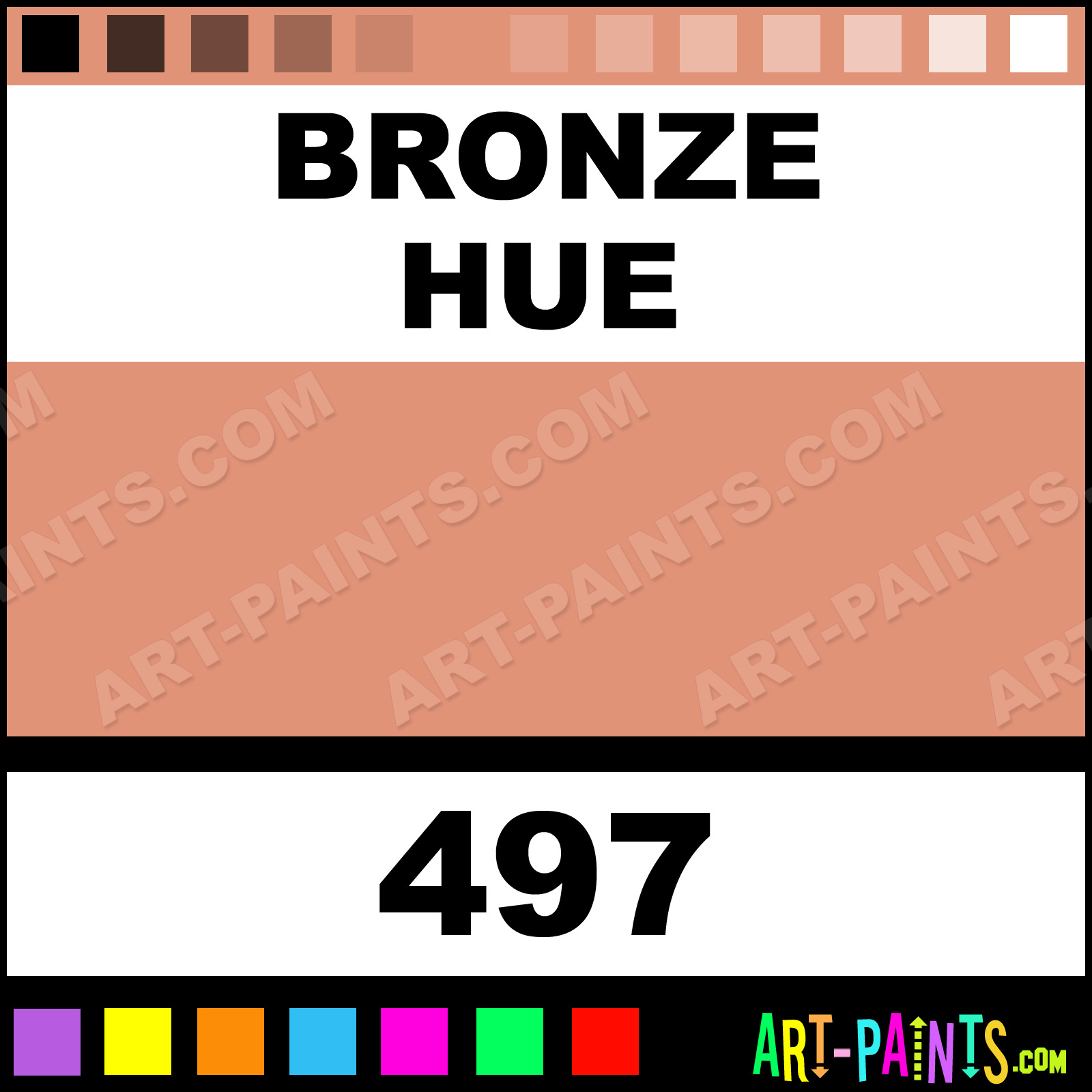 Bronze Metallic Acrylic Paints - 497 - Bronze Paint. Bronze Color. Caran D-Ache Metallic Paint. E19377 - Art-Paints.com