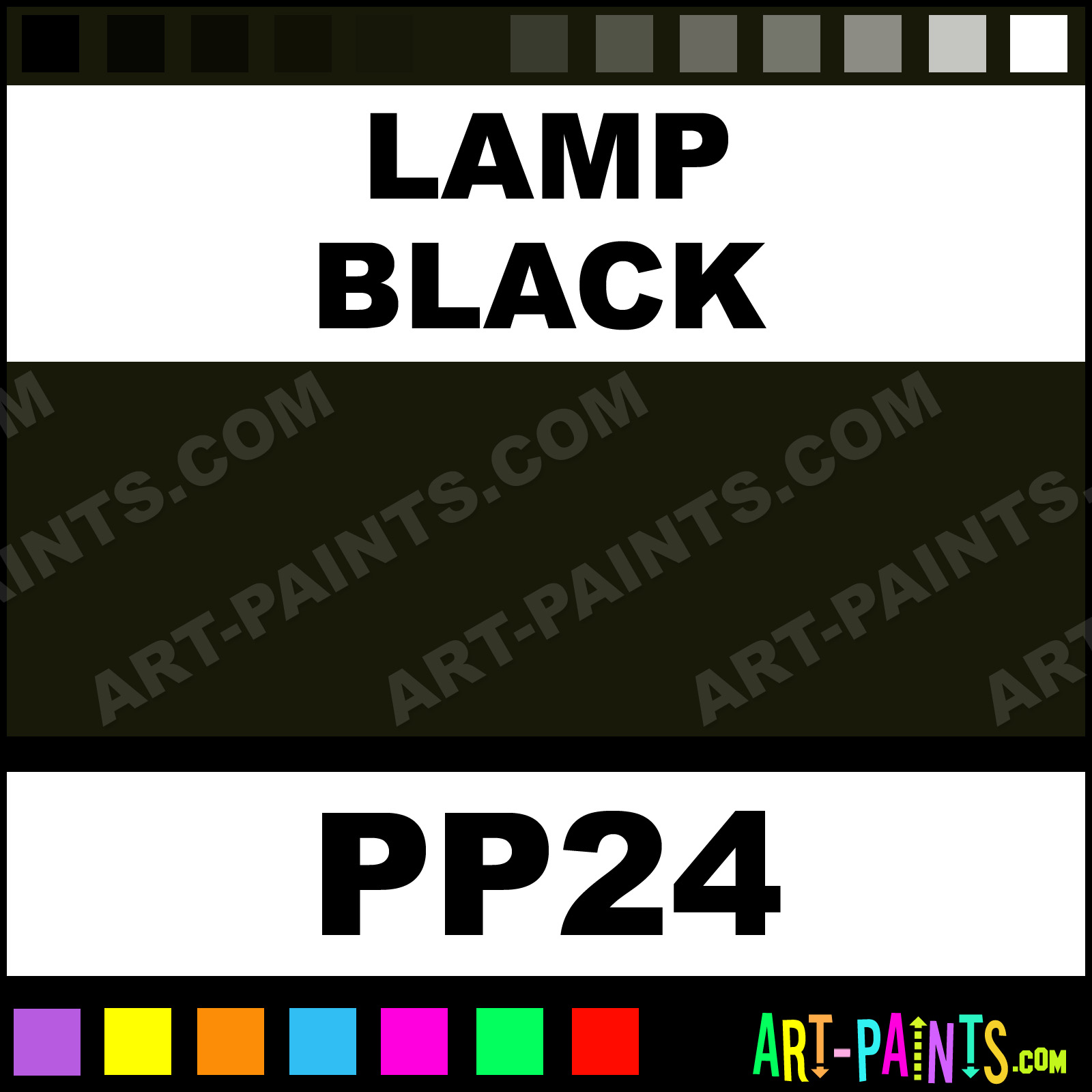 Lamp Black Pigment Powder Casein Milk Paints