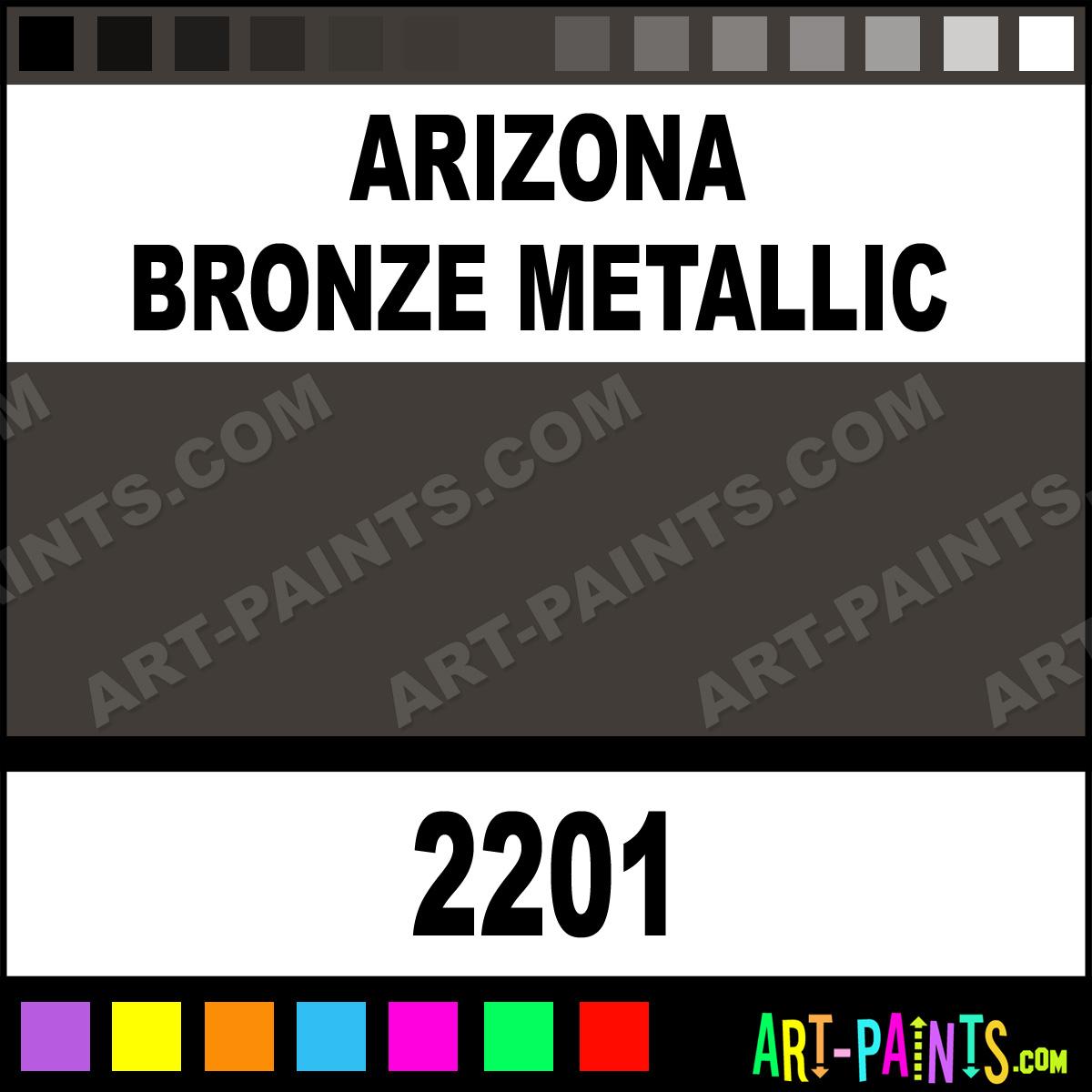 Arizona Bronze Metallic Acrylic Enamel Paints - 2201 - Arizona Bronze Metallic Paint. Arizona Bronze Metallic Color. AE Acrylic Paint. 403B37 ...