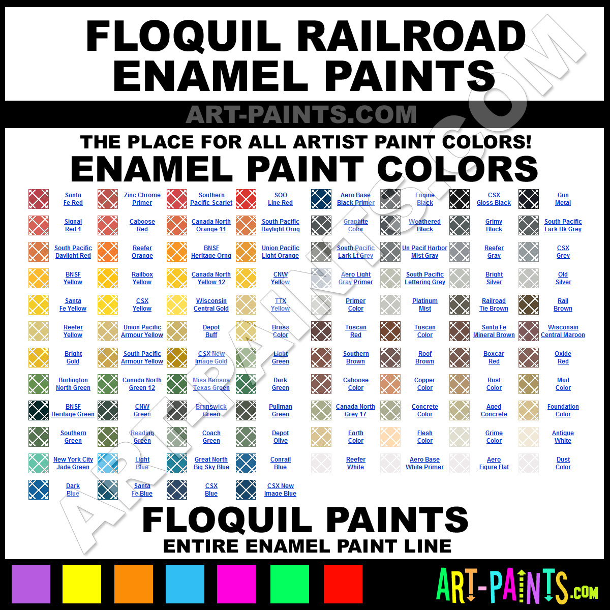 Testors Model Paint Color Chart