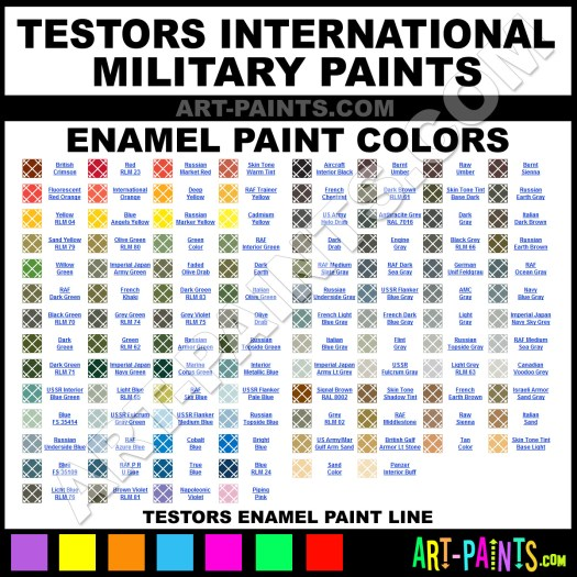 Testors International Military Enamels Paints