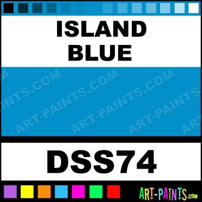 Island Blue SoSoft Fabric Acrylics Fabric Textile Paints ...