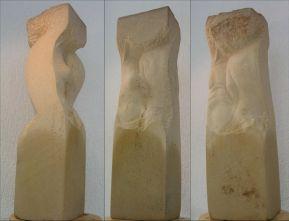 Sandsteinskulptur Zuneigung 1.10.05