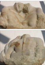 Sandsteinskulptur Zweisamkeit 2002