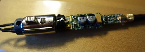 small resolution of here the stripped down mini xlr socket is on the left wires soldered to it connect to mini xlr jack on the outside of the lute the pre amp circuit board