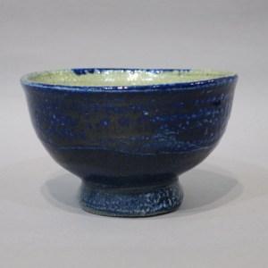 浜田庄司 藍塩釉茶碗