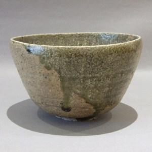 加守田章二 灰釉茶碗