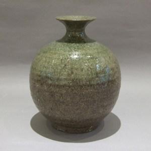 加守田章二 灰釉花瓶