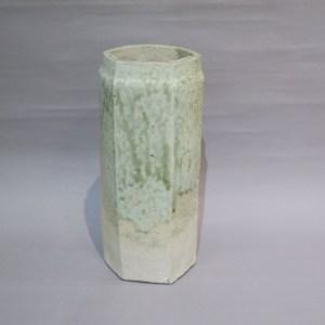 加守田章二 灰釉花瓶-2