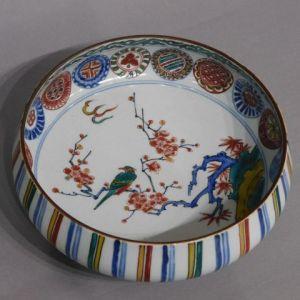 初代徳田八十吉 鉦形丸紋鉢