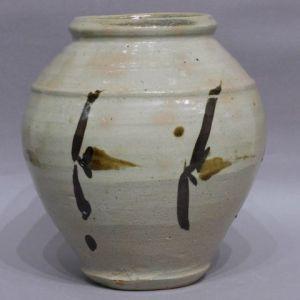 浜田庄司 鉄絵花瓶