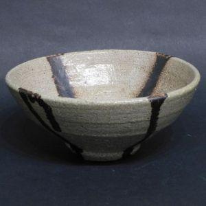 浜田庄司 塩釉十字掛茶碗