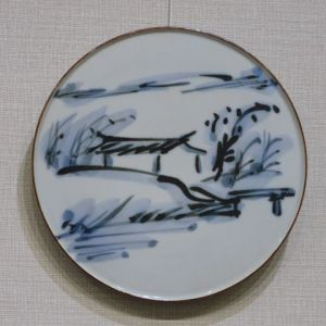 富本憲吉 染付陶板