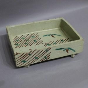 浜田庄司 赤絵角鉢