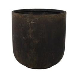 Pot square black bowl
