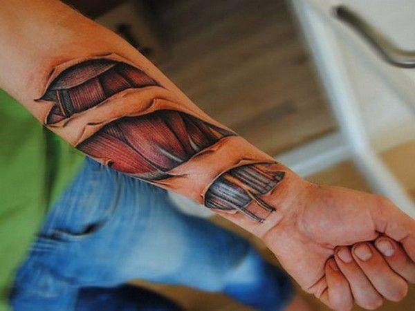 Ripped Skin Tattoo Ideas