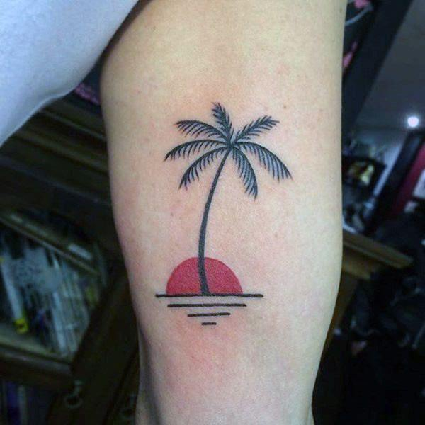 Simple Palm Tree Tattoo Designs