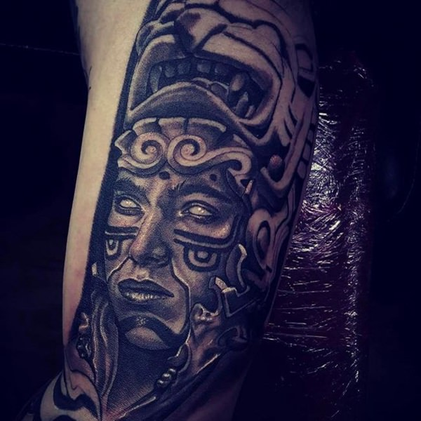 Aztec Jaguar Warrior Tattoo Designs