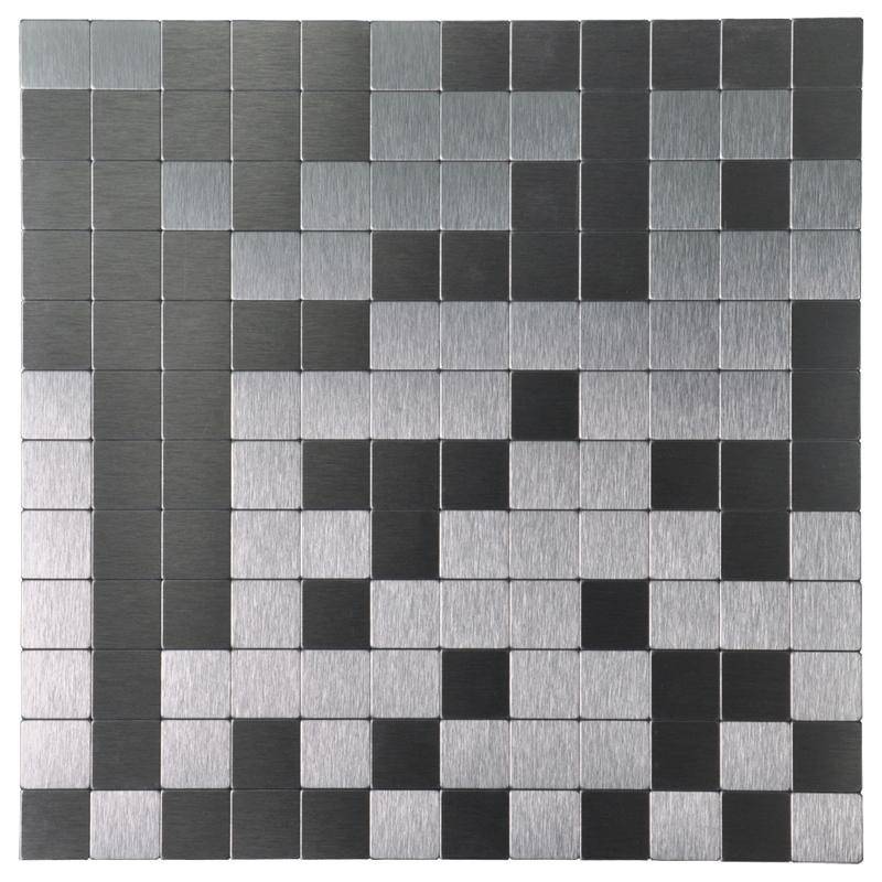 Peel And Stick Tile Aluminium Backsplash Mosaics 12 X 12 Silver