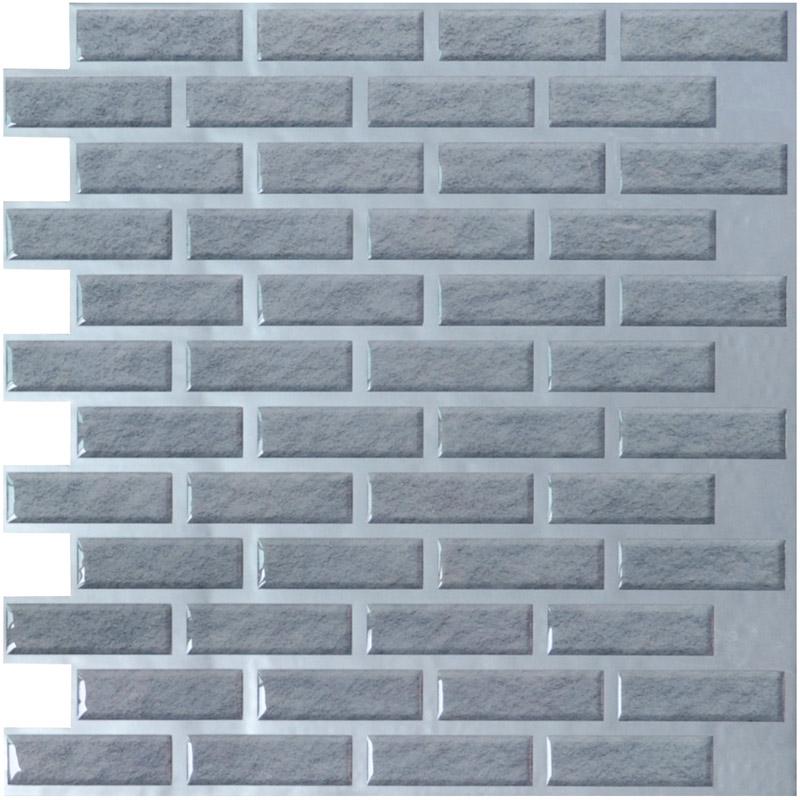 a17010 brick vinyl wall tiles 11 2 x 12in peel and stick backsplash 9 5 sq ft