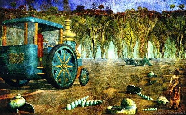 3d-art Of Johan Framhout Steam Wagon