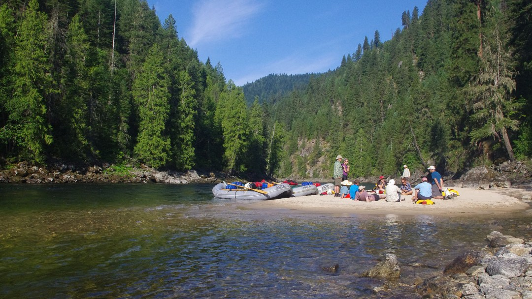 A lunch break along the Selway River in Idaho
