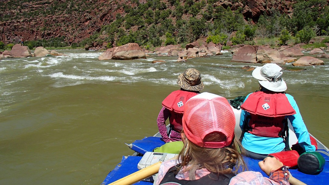 Entering Hell's Half Mile rapid on the Green River in Dinosaur National Monument