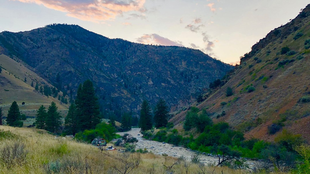 River camp along the Middle Fork of the Salmon River in Idaho