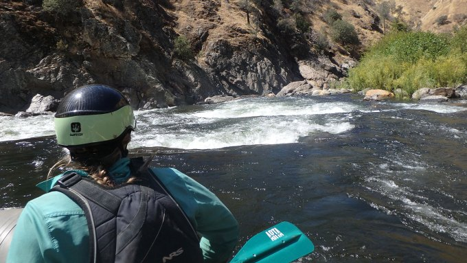Entering Clavey Falls on the Tuolumne River