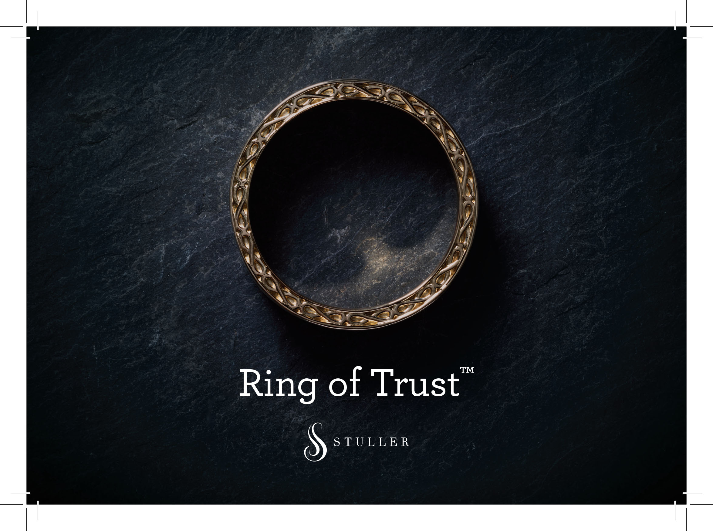 Tausch design example. Image of a ring with the word's