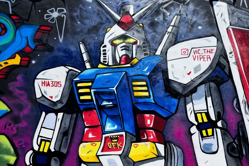 A painting of a robot.