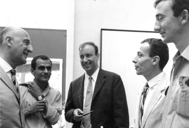Biennale di Venezia 1966, GilloDorfles con Gino Marotta,Riccardo Guarneri, Paolo Scheggi e Agostino Bonalumi.