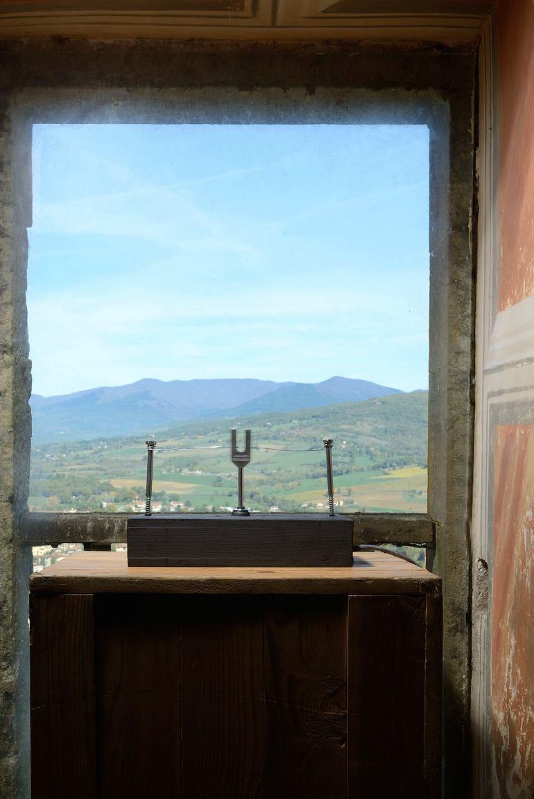 LIMITE, scultura rotante, CASTELLO DI POPPI, Arezzo (2015)
