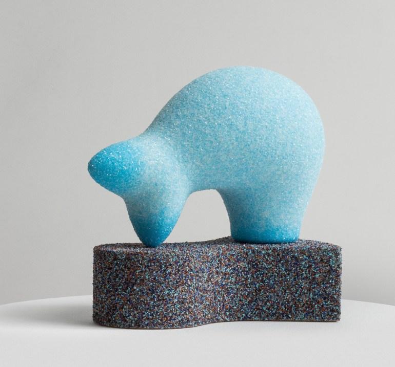 ArteFiera 2019 | Vincent Beaurin: Perdika, 2019 - polistirolo, resina epossidica e vetro, 38 x 41 x 27 cm | courtesy Vincent Beaurin e MAAB Gallery, Milano |foto di Sonia Beaurin