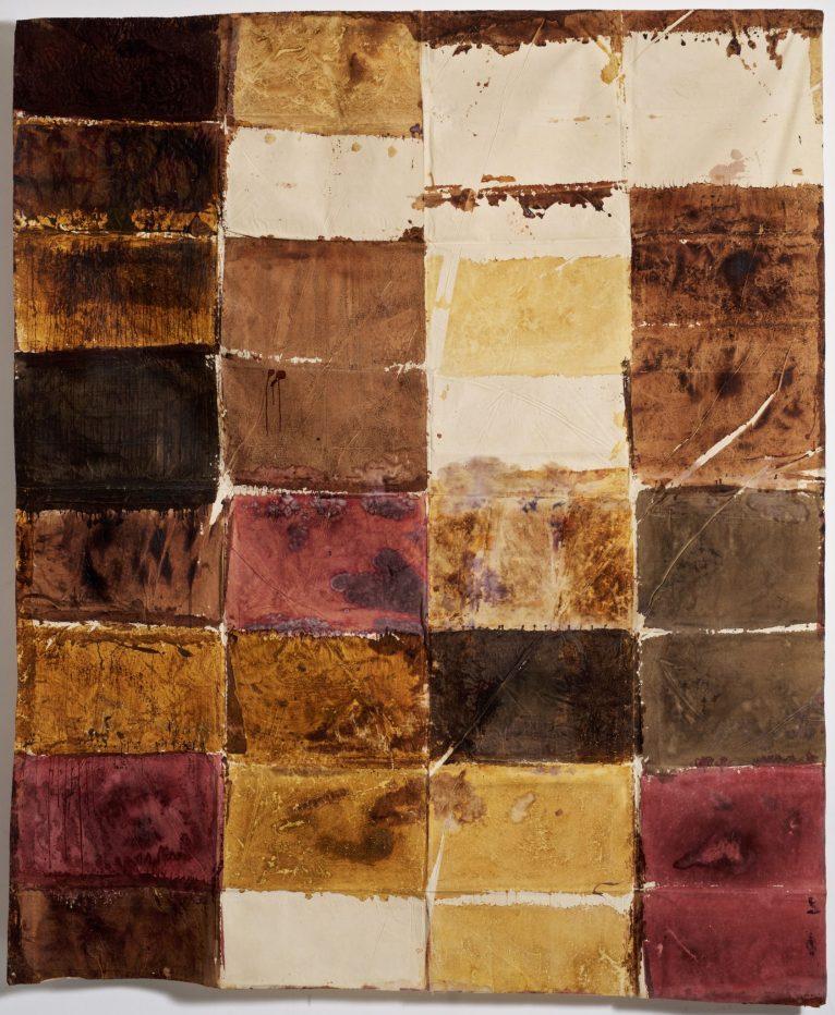 Cromogramma-1965-70. Colori vegetali su tela. 270x230 cm.