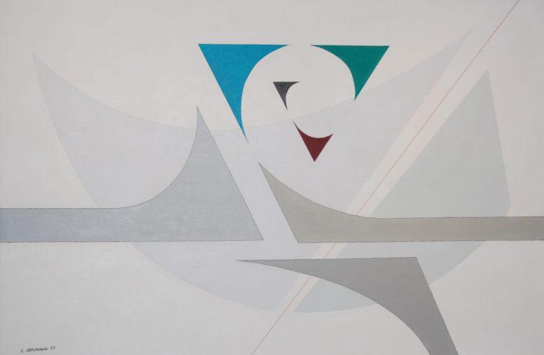 LUIGI VERONESI, Composizione A71, 1971 - olio su tela, 100x150 cm | Courtesy Galleria 10 A.M. Art, Milano