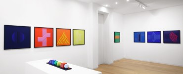 """Zagreb Calling. Ivan Picelj, Vjenceslav Richter and Julije Knifer"", Cortesi Gallery, Milano, 2019 | Photo: Bruno Bani | Courtesy Cortesi Gallery"