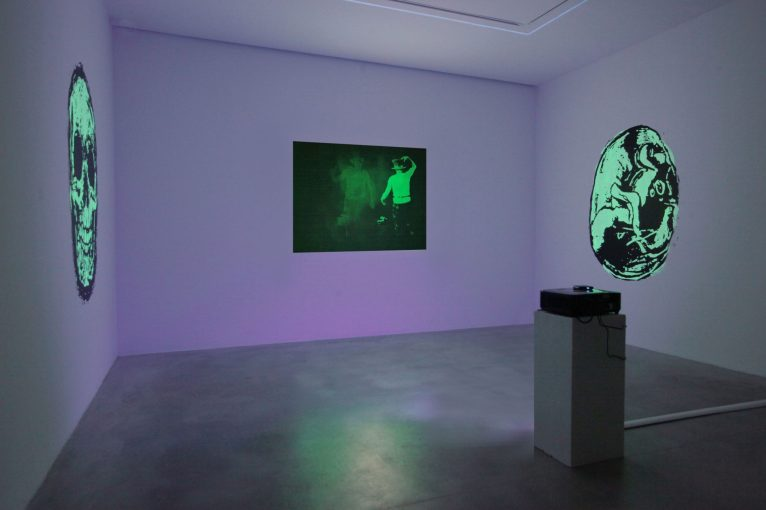 Tony Oursler: The Volcano and Poetics Tattoo, 2019 - installation view | courtesy Dep Art Gallery, Milano