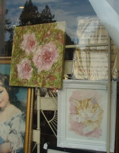 Kitten watercolour and textured roses