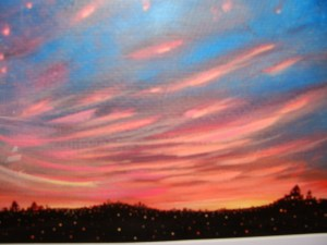 Winter Sunset Acrylic