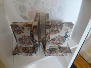 Decoupage bookends