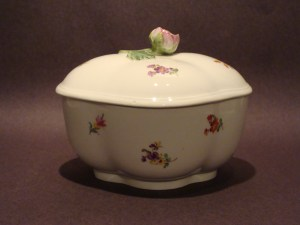 Pretty aged dish with lid