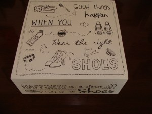 Never enough shoes storage box