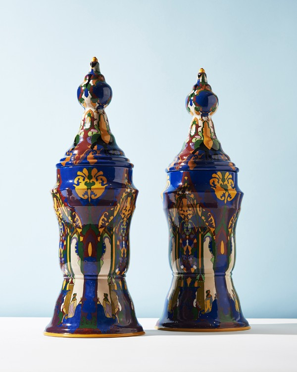 TAC Colenbrander, Earthly Delights Vase Pair, 1921