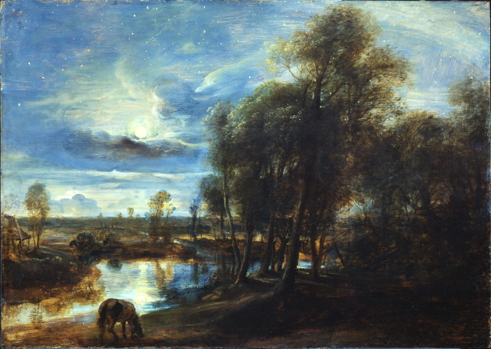 Landscape by Moonlight by Rubens
