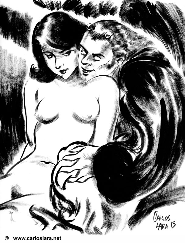 Lust, ink and brush